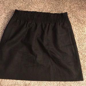 J. Crew black wool mini skirt size 2